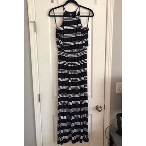 LOFT striped maxi dress